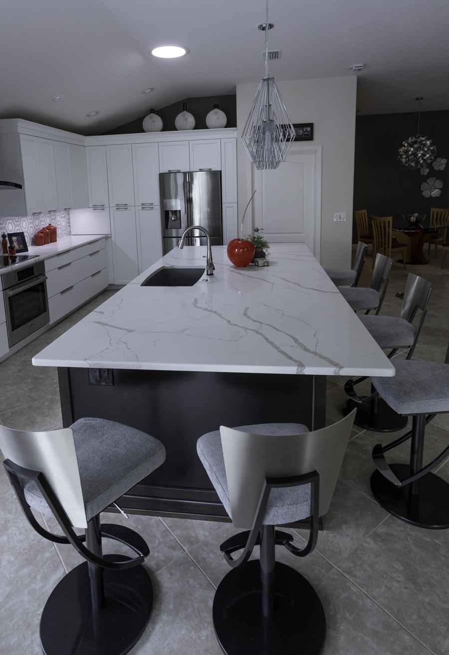 Robinson Kitchen. Solid Image Inc. Leesburg Florida. Corian Quartz Granite countertops